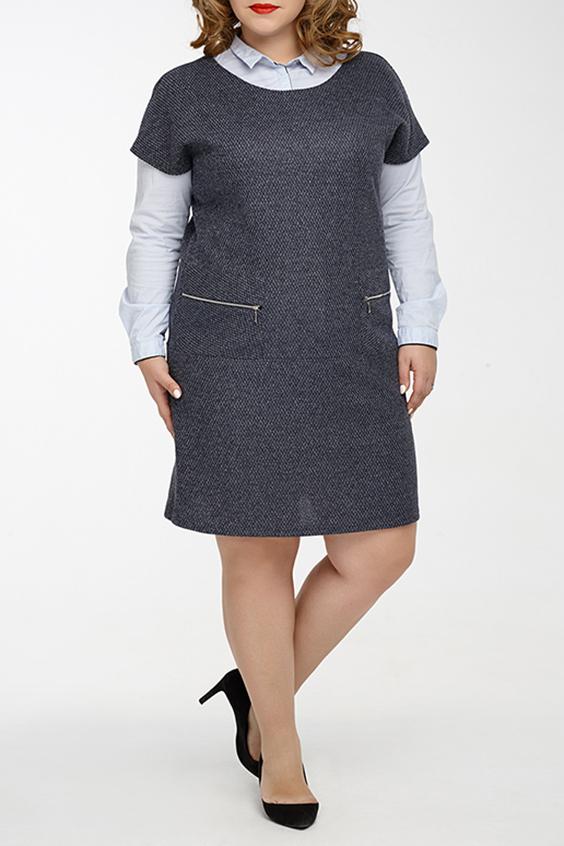 Платье - сарафанПлатья<br>Универсальное трикотажное платье для активных женщин ценящих практичность и комфорт. В прохладное время года изделие можно сочетать с различными элементами гардероба, например, с блузкой или вололазкой. Также платье можно использовать как самостоятельный элемент гардероба.  Превосходное женское платье - сарафан прямого силуэта, выполнен из плотного трикотажного полотна. Вырез горловины круглый обработан обтачкой. Линия плеча занижена. Полочка оформлена накладными карманами с металлическими молниями. Под карманами, на полочке и спинке выполнен декоративный горизонтальный подрез.  Длина изделия по спинке: около 92 см  Цвет: серый.  Ростовка изделия 170 см.<br><br>Горловина: С- горловина<br>По длине: До колена<br>По материалу: Трикотаж<br>По образу: Город,Офис<br>По рисунку: Однотонные<br>По силуэту: Прямые<br>По стилю: Классический стиль,Кэжуал,Офисный стиль,Повседневный стиль<br>По форме: Платье - футляр<br>По элементам: С карманами,С отделочной фурнитурой<br>Рукав: Короткий рукав<br>По сезону: Осень,Весна,Зима<br>Размер : 50,52,54,56,58,60<br>Материал: Трикотаж<br>Количество в наличии: 9