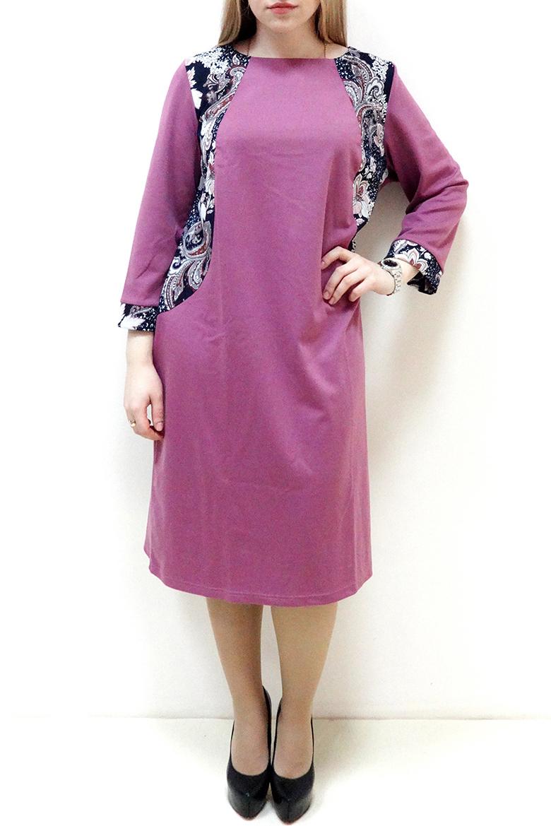 ПлатьеПлатья<br>Красивое платье с круглой горловиной и рукавами 3/4. Модель выполнена из приятного трикотажа. Отличный выбор для повседневного гардероба.  Цвет: розовый, белый, синий  Рост девушки-фотомодели 162 см.<br><br>По образу: Город,Свидание<br>По стилю: Повседневный стиль<br>По материалу: Вискоза,Трикотаж<br>По рисунку: С принтом,Цветные<br>По сезону: Осень,Весна<br>По силуэту: Полуприталенные<br>По элементам: С манжетами<br>По форме: Платье - футляр<br>По длине: Ниже колена<br>Рукав: Рукав три четверти<br>Горловина: С- горловина<br>Размер: 52,54,56,58,60,62<br>Материал: 65% вискоза 30% полиэстер 5% эластан<br>Количество в наличии: 11