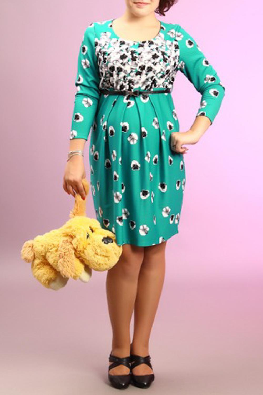 ПлатьеПлатья<br>Женское платье с круглой горловиной и рукавами 3/4. Модель выполнена из приятного материала. Отличный выбор для повседневного гардероба. В комплекте белый пояс.  За счет свободного кроя и эластичного материала изделие можно носить во время беременности  Цвет: зеленый, белый<br><br>Горловина: С- горловина<br>По материалу: Вискоза,Трикотаж<br>По рисунку: Растительные мотивы,Цветные,Цветочные,С принтом<br>По сезону: Весна,Осень,Зима<br>По силуэту: Свободные<br>Рукав: Рукав три четверти<br>По форме: Платье - футляр<br>По стилю: Повседневный стиль<br>По длине: До колена<br>Размер : 48<br>Материал: Жаккард<br>Количество в наличии: 1
