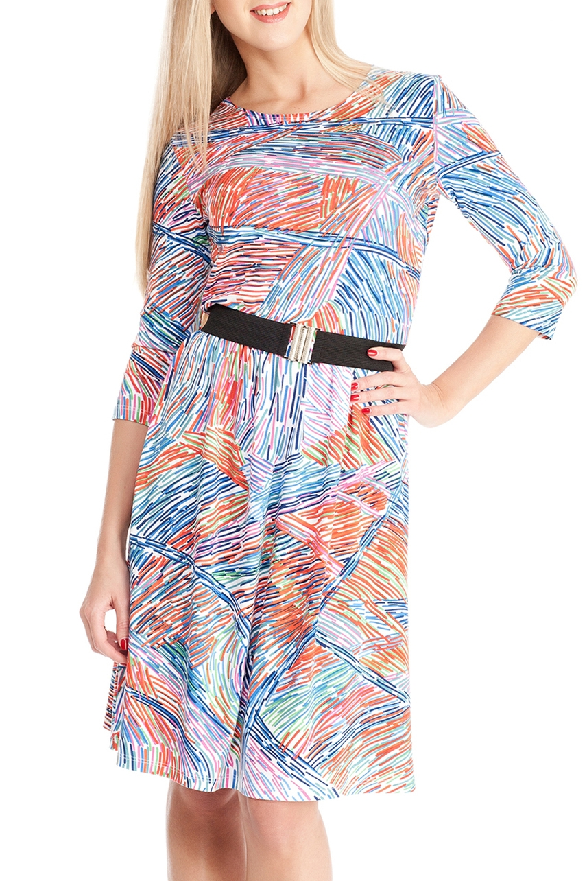 ПлатьеПлатья<br>Замечательное платье с рукавами 3/4. Модель выполнена из мягкой вискозы. Отличный выбор для повседневного гардероба. Платье без пояса.  Цвет: голубой, оранжевый  Ростовка изделия 170 см.<br><br>Горловина: С- горловина<br>По длине: До колена<br>По материалу: Вискоза,Трикотаж<br>По рисунку: С принтом,Цветные<br>По силуэту: Полуприталенные<br>По стилю: Повседневный стиль<br>Рукав: Рукав три четверти<br>По сезону: Осень,Весна,Зима<br>По форме: Платье - трапеция<br>Размер : 44,46,48,50<br>Материал: Вискоза<br>Количество в наличии: 12