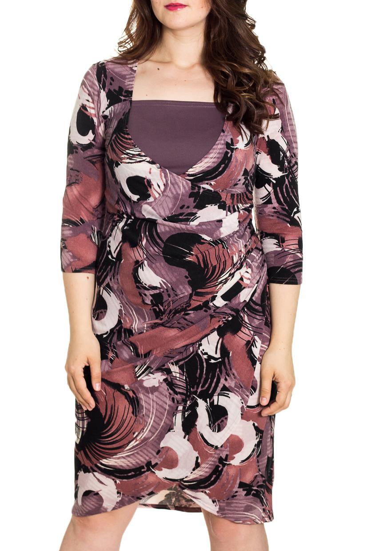 ПлатьеПлатья<br>Двухслойное платье-туника из мягкого и теплого трикотажа барбари с абстрактным принтом, ( внутренняя часть полочки вшита в боковые швы) - очень комфортное и практичное в носке.  Рукав 3/4, по спинке приталенна.  Длина около 90 ± 3 см  Цвет: какао, черный, белый  Рост девушки-фотомодели 180 см<br><br>Горловина: Квадратная горловина<br>По длине: До колена<br>По материалу: Трикотаж<br>По рисунку: Абстракция,С принтом,Цветные<br>По силуэту: Приталенные<br>По стилю: Повседневный стиль<br>По форме: Платье - футляр<br>Рукав: Рукав три четверти<br>По сезону: Осень,Весна,Зима<br>Размер : 46,48,50,52<br>Материал: Трикотаж<br>Количество в наличии: 6