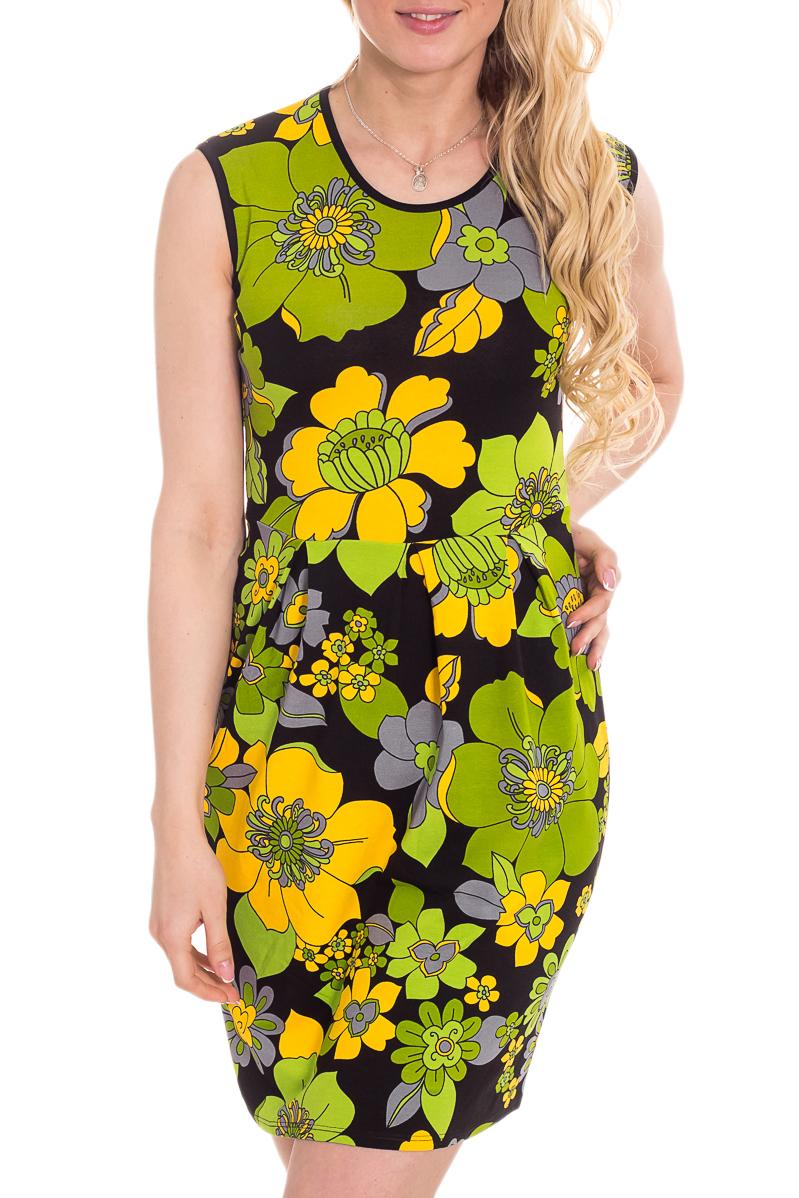 ПлатьеПлатья<br>Чудесное домашнее платье. Домашняя одежда, прежде всего, должна быть удобной, практичной и красивой. В нашей домашней одежде Вы будете чувствовать себя комфортно, особенно, по вечерам после трудового дня.  Цвет: черный, желтый, зеленый.  Рост девушки-фотомодели 170 см<br><br>По материалу: Вискоза<br>По рисунку: Цветочные,Растительные мотивы,С принтом (печатью),Цветные<br>По сезону: Весна,Зима,Всесезон,Лето,Осень<br>По элементам: Без рукавов<br>По форме: Платья<br>Горловина: С- горловина<br>Бретели: Широкие бретели<br>Размер: 44,46,48,50<br>Материал: 95% вискоза 5% эластан<br>Количество в наличии: 4