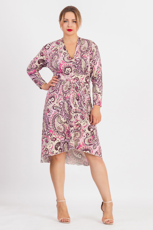 купить Платье с фигурным низом по цене 1799 рублей