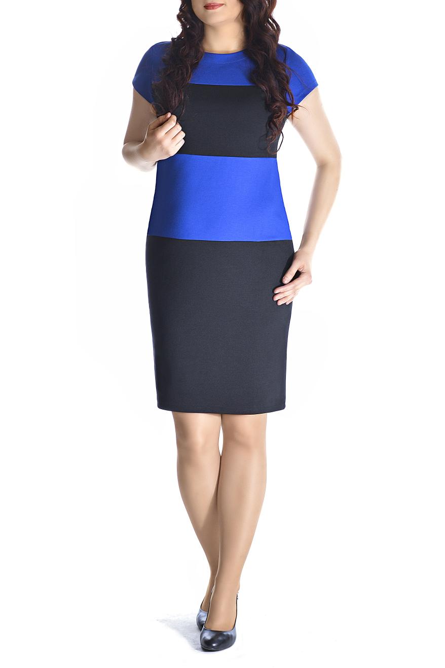 ПлатьеПлатья<br>Элегантное платье построенное на сочетании двух контрастных цветов. Классический вариант для офиса. Ткань - плотный трикотаж, характеризующийся эластичностью, растяжимостью и мягкостью. Ростовка изделия 170 см.  Длина изделия 96-98 см.  В изделии использованы цвета: черный, синий  Рост девушки-фотомодели 170 см<br><br>Горловина: С- горловина<br>По длине: До колена<br>По материалу: Вискоза,Трикотаж<br>По рисунку: В полоску,Цветные<br>По силуэту: Приталенные<br>По стилю: Офисный стиль,Повседневный стиль<br>По форме: Платье - футляр<br>Рукав: Короткий рукав<br>По сезону: Осень,Весна,Зима<br>Размер : 44,46,48,50<br>Материал: Трикотаж<br>Количество в наличии: 8