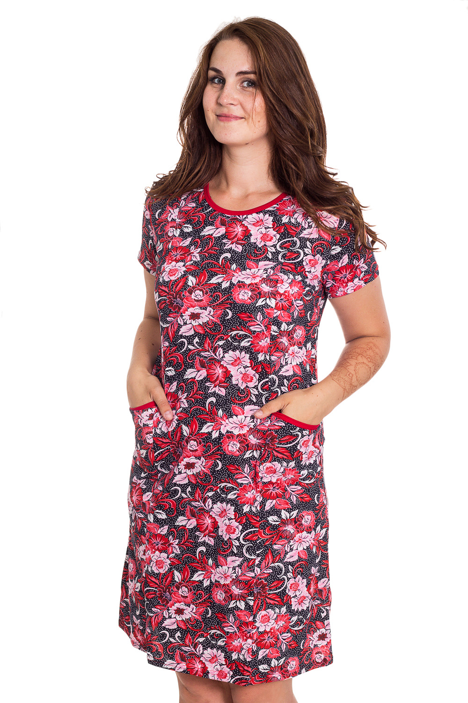 ПлатьеПлатья<br>Цветное домашнее платье. Домашняя одежда, прежде всего, должна быть удобной, практичной и красивой. В наших изделиях Вы будете чувствовать себя комфортно, особенно, по вечерам после трудового дня.  В изделии использованы цвета: красный, черный, белый  Рост девушки-фотомодели 180 см<br><br>Горловина: С- горловина<br>По рисунку: Растительные мотивы,Цветные,Цветочные,В горошек,С принтом<br>По сезону: Весна,Зима,Лето,Осень,Всесезон<br>По силуэту: Полуприталенные<br>По форме: Платья<br>По элементам: С карманами<br>Рукав: Короткий рукав<br>По длине: Ниже колена<br>По материалу: Хлопок<br>Размер : 50<br>Материал: Хлопок<br>Количество в наличии: 1