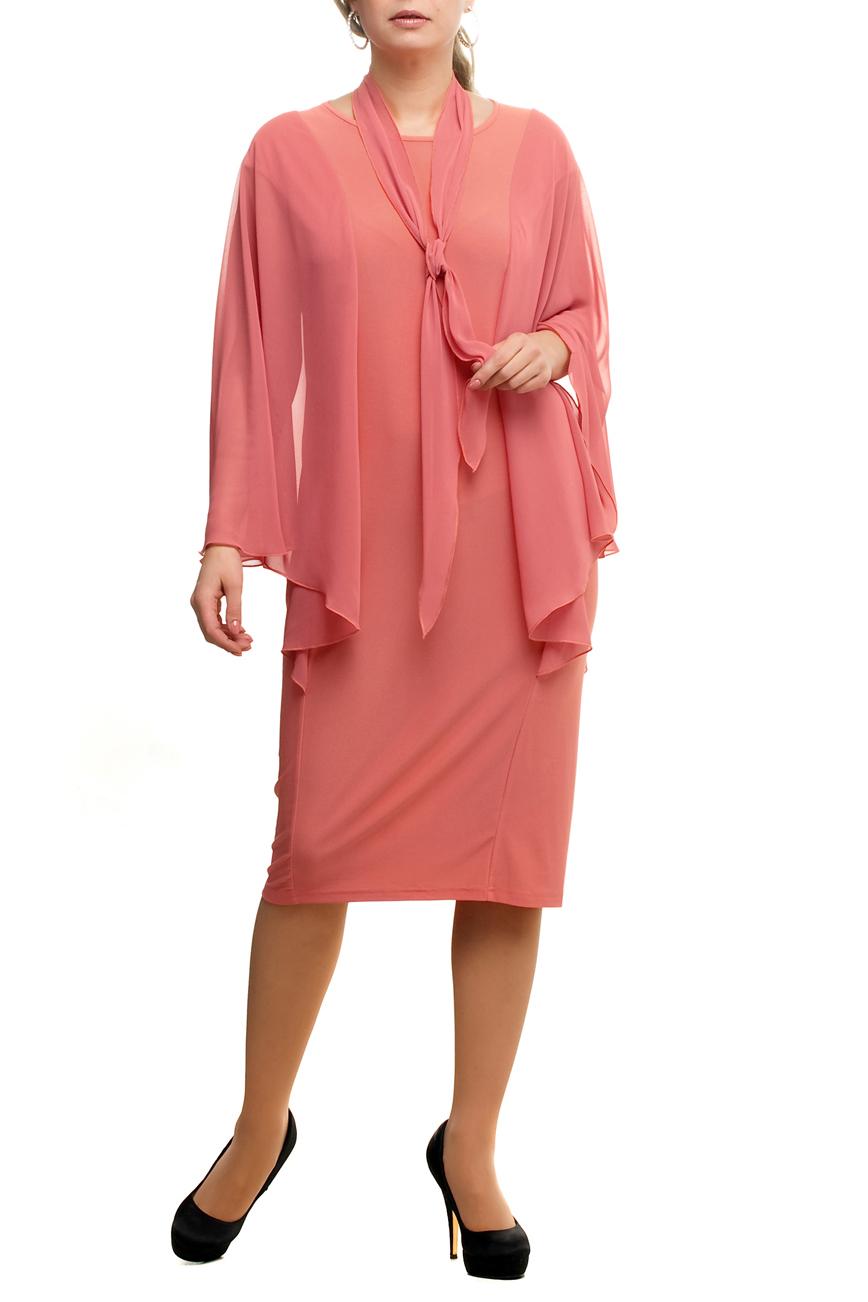 ПлатьеПлатья<br>Нарядное платье с рукавами из воздушного шифона. Модель выполнена из приятных материалов. Отличный выбор для любого торжества. Платье без шарфика.  Цвет: персиковый  Рост девушки-фотомодели 173 см.<br><br>Горловина: С- горловина<br>По длине: Ниже колена<br>По материалу: Трикотаж,Шифон<br>По рисунку: Однотонные<br>По сезону: Весна,Зима,Лето,Осень,Всесезон<br>По силуэту: Полуприталенные<br>По стилю: Нарядный стиль,Вечерний стиль<br>По форме: Платье - футляр<br>По элементам: С декором<br>Рукав: Длинный рукав<br>Размер : 48,52,54,56,58,60,62,64,66,68,70<br>Материал: Холодное масло + Шифон<br>Количество в наличии: 11