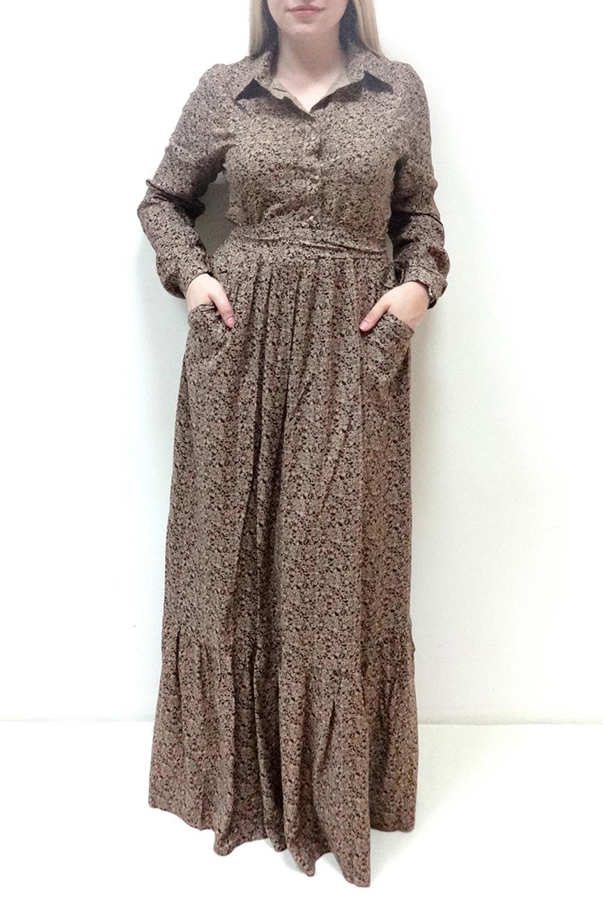 ПлатьеПлатья<br>Эффектное платье в пол. Модель выполнена из  хлопкового материала. Отличный выбор для любого случая.  Просим учесть, что после стирки изделие даст усадку на один размер.  В изделии использованы цвета: бежевый, коричневый и др.  Рост девушки-фотомодели 162 см<br><br>Воротник: Рубашечный<br>По длине: Макси<br>По материалу: Хлопок<br>По рисунку: С принтом,Цветные<br>По сезону: Лето,Осень,Весна<br>По силуэту: Приталенные<br>По стилю: Винтаж,Повседневный стиль<br>По форме: Платье - трапеция<br>По элементам: С карманами,С манжетами<br>Рукав: Длинный рукав<br>Размер : 44,46,48,50<br>Материал: Хлопок<br>Количество в наличии: 6