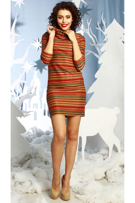ПлатьеПлатья<br>Прямое платье из полушерстяного  трикотажного полотна, рукав 3/4, воротник - хомут. Уютное платье придает торжественность: женщину в этом наряде видно издалека Комфортная, тёплая ткань и воротник-хомут: такие платья отлично сочетаются и с кедами, и со шпильками.  Длина изделия от 85 см до 95 см, в зависимости от размера.  В изделии использованы цвета: оранжевый, горчичный и др.  Рост девушки-фотомодели 176 см<br><br>Воротник: Хомут<br>По длине: До колена<br>По материалу: Трикотаж<br>По рисунку: В полоску,С принтом,Цветные<br>По силуэту: Полуприталенные<br>По стилю: Повседневный стиль<br>По форме: Платье - футляр<br>Рукав: Рукав три четверти<br>По сезону: Осень,Весна,Зима<br>Размер : 46<br>Материал: Трикотаж<br>Количество в наличии: 1