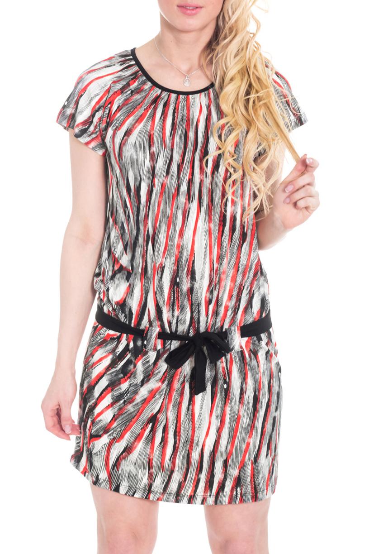 ПлатьеПлатья<br>Всегда актуальная и женственная модель, которая добавит удобства любому образу.  Цвет: черный, белый, серый, красный.  Рост девушки-фотомодели 170 см<br><br>Горловина: С- горловина<br>По длине: Мини<br>По материалу: Трикотаж<br>По рисунку: В полоску,Цветные<br>По силуэту: Полуприталенные<br>По стилю: Кэжуал,Летний стиль,Повседневный стиль<br>По элементам: С декором,С заниженной талией<br>Рукав: Короткий рукав<br>По сезону: Лето<br>Размер : 44<br>Материал: Холодное масло<br>Количество в наличии: 1