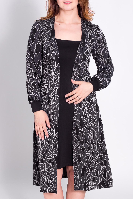 ПлатьеПлатья<br>Практичное трикотажное платье с имитацией двухслойности. Изюминкой наряда являются декоративные петли, охватывающие полы платья.  Длина внешнего платья (по спинке):  до 48 размера - 115 см. после 50 размера - 118 см.  Длина внутреннего платья (по полочке):  до 48 размера - 82 см. после 50 размера - 88 см.  Цвет: черный, серый  Рост девушки-фотомодели 180 см.<br><br>По длине: До колена<br>По материалу: Вискоза,Трикотаж<br>По образу: Город,Свидание<br>По рисунку: Абстракция,Цветные,С принтом<br>По сезону: Зима<br>По силуэту: Полуприталенные,Свободные<br>По стилю: Повседневный стиль<br>По форме: Платье - футляр<br>Рукав: Длинный рукав<br>Воротник: Шалька<br>По элементам: С манжетами<br>Размер : 50<br>Материал: Трикотаж<br>Количество в наличии: 1