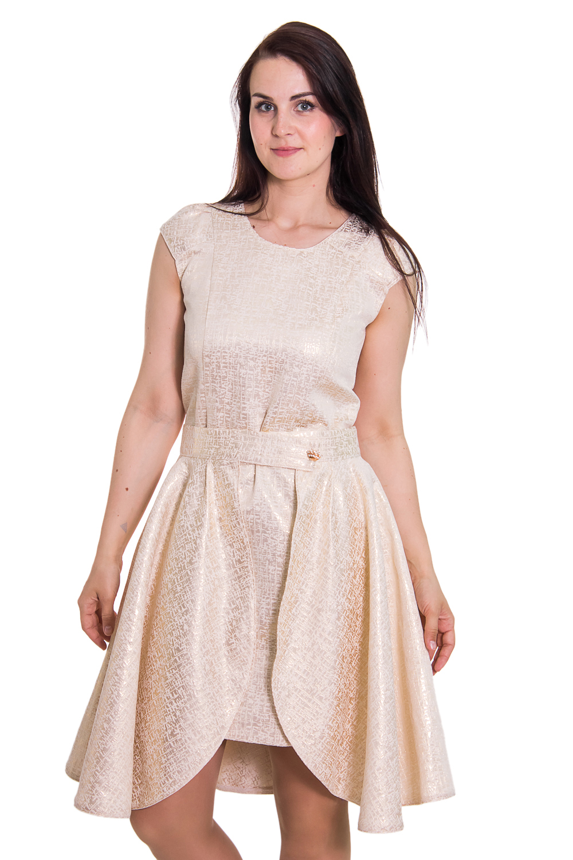 ПлатьеПлатья<br>Женское платье без рукавов с круглой горловиной. Модель выполнена из фактурного атласа. Отличный выбор для любого торжества. Платье с отстегивающейся юбкой.  Цвет: бежевый  Рост девушки-фотомодели 180 см.<br><br>По образу: Город,Свидание,Выход в свет<br>По стилю: Молодежный стиль,Повседневный стиль,Романтический стиль,Нарядный стиль<br>По материалу: Хлопок<br>По рисунку: Однотонные<br>По сезону: Всесезон,Зима,Лето,Осень,Весна<br>По силуэту: Полуприталенные<br>По элементам: С декором<br>По форме: Платье - футляр<br>По длине: Миди<br>Рукав: Без рукавов<br>Горловина: С- горловина<br>Размер: 46,48,50,52,54<br>Материал: 50% хлопок 45% полиэстер 5% эластан<br>Количество в наличии: 3