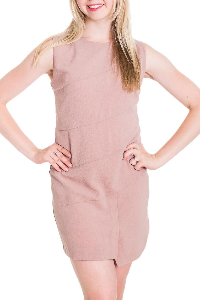 ПлатьеПлатья<br>Однотонное приталенное платье без рукавов. Модель выполнена из приятного материала. Отличный выбор для любого случая.   Цвет: бежевый  Рост девушки-фотомодели 170 см.<br><br>Горловина: С- горловина<br>По длине: До колена<br>По материалу: Тканевые<br>По рисунку: Однотонные<br>По силуэту: Приталенные<br>По стилю: Повседневный стиль<br>По форме: Платье - футляр<br>По элементам: С фигурным низом<br>Рукав: Без рукавов<br>По сезону: Осень,Весна<br>Размер : 40,42,44,46<br>Материал: Плательная ткань<br>Количество в наличии: 4