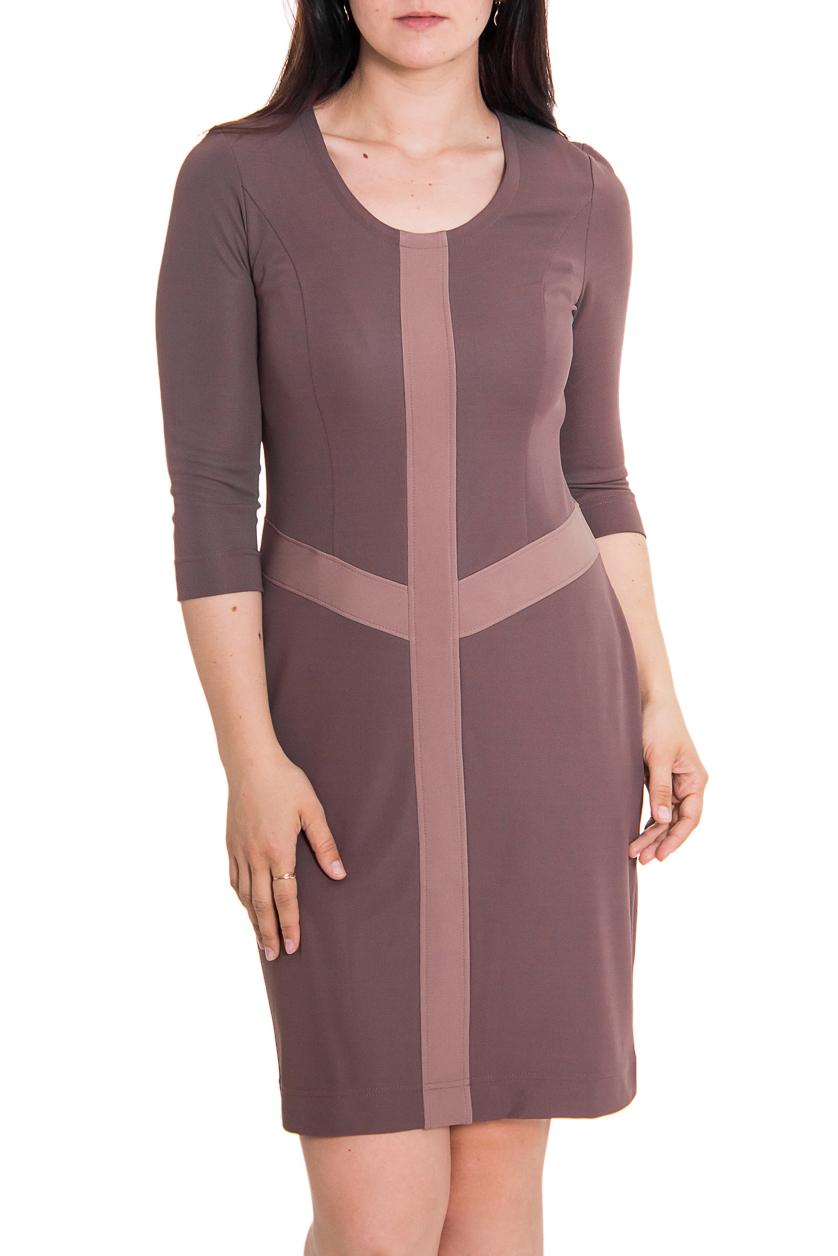 ПлатьеПлатья<br>Женское платье с круглой горловиной и длинными рукавами. Модель выполнена из приятного материала. Отличный выбор для повседневного гардероба.  Цвет: коричневый, бежевый  Рост девушки-фотомодели 180 см<br><br>Горловина: С- горловина<br>По длине: До колена<br>По материалу: Трикотаж<br>По рисунку: Цветные<br>По сезону: Весна,Осень,Зима<br>По силуэту: Полуприталенные<br>По стилю: Повседневный стиль<br>По форме: Платье - футляр<br>Рукав: Рукав три четверти<br>Размер : 46,48<br>Материал: Трикотаж<br>Количество в наличии: 3