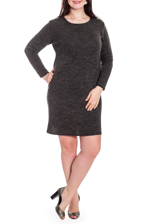 ПлатьеПлатья<br>Однотонное платье с круглой горловиной и длинными рукавами. Модель выполнена из мягкой вискозы. Отличный выбор для повседневного гардероба.   В изделии использованы цвета: серый  Рост девушки-фотомодели 180 см<br><br>Горловина: С- горловина<br>По длине: До колена<br>По материалу: Вискоза<br>По рисунку: Однотонные<br>По сезону: Весна,Осень,Зима<br>По силуэту: Приталенные<br>По стилю: Кэжуал,Повседневный стиль<br>По форме: Платье - футляр<br>По элементам: С карманами<br>Рукав: Длинный рукав<br>Размер : 52,54<br>Материал: Вискоза<br>Количество в наличии: 4