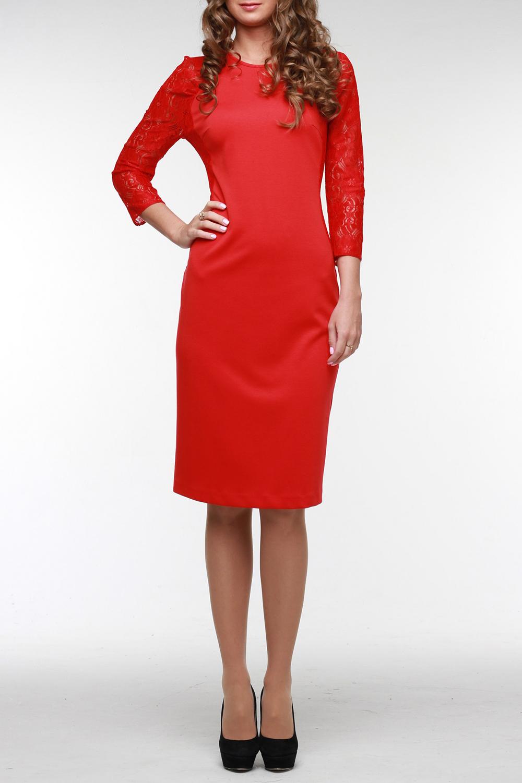 ПлатьеПлатья<br>Нарядное платье из красного высококачественного джерси. Рукав реглан выполнен из кружева в тон и имеет длину 3/4. Рельефные бочки так же отделаны кружевом. На спинке молния 50 см. и шлица. Горловина обработана обтачкой. Прекрасный выбор для торжества и не только.  Цвет: красный  Рост девушки-фотомодели 176 см<br><br>Горловина: С- горловина<br>По длине: До колена<br>По материалу: Вискоза,Гипюр,Трикотаж<br>По рисунку: Однотонные<br>По сезону: Весна,Зима,Лето,Осень,Всесезон<br>По силуэту: Полуприталенные<br>По стилю: Нарядный стиль,Вечерний стиль<br>По форме: Платье - футляр<br>Рукав: Рукав три четверти<br>Размер : 56<br>Материал: Джерси + Гипюр<br>Количество в наличии: 1