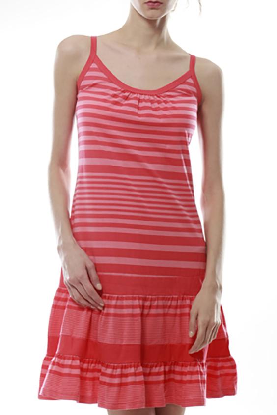 ПлатьеПлатья<br>Трикотажное домашнее платье. Домашняя одежда, прежде всего, должна быть удобной, практичной и красивой. В нашей домашней одежде Вы будете чувствовать себя комфортно, особенно, по вечерам после трудового дня.  Цвет: коралловый<br><br>Бретели: Тонкие бретели<br>Горловина: С- горловина<br>По рисунку: В полоску,Цветные<br>По сезону: Лето<br>По силуэту: Полуприталенные<br>По форме: Платья<br>По длине: До колена<br>По материалу: Трикотаж,Хлопок<br>Рукав: Без рукавов<br>Размер : 42,48<br>Материал: Трикотаж<br>Количество в наличии: 7