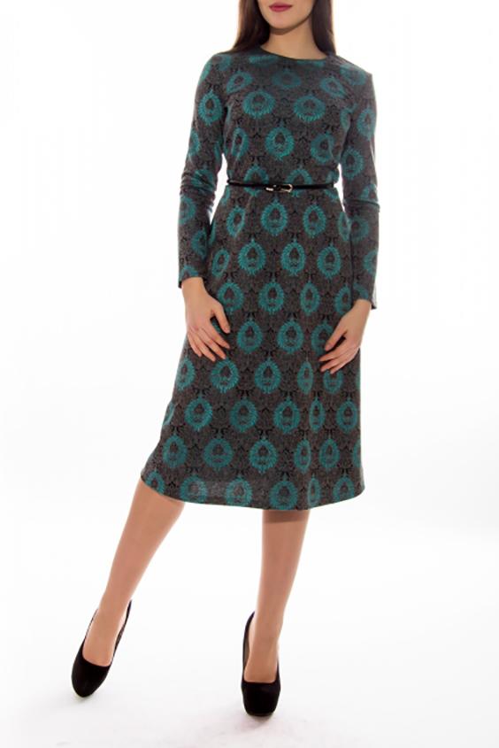 ПлатьеПлатья<br>Цветное платье с длинными рукавами. Модель выполнена из приятного материала. Отличный выбор для повседневного гардероба.   Платье без пояса.  В изделии использованы цвета: серый, бирюзовый и др.  Длина по спинке 44-110 см 46-110 см 48-110 см 50-110 см 52-110 см 54-110 см Длина рукава 44-58 см 46-58 см 48-60 см 50-60 см 52-60 см 54-60 см  Ростовка изделия 170 см<br><br>Горловина: С- горловина<br>По длине: Ниже колена<br>По материалу: Трикотаж<br>По рисунку: С принтом,Цветные<br>По сезону: Осень,Зима<br>По силуэту: Приталенные<br>По стилю: Кэжуал,Повседневный стиль<br>По форме: Платье - трапеция<br>Рукав: Длинный рукав<br>Размер : 46<br>Материал: Трикотаж<br>Количество в наличии: 1