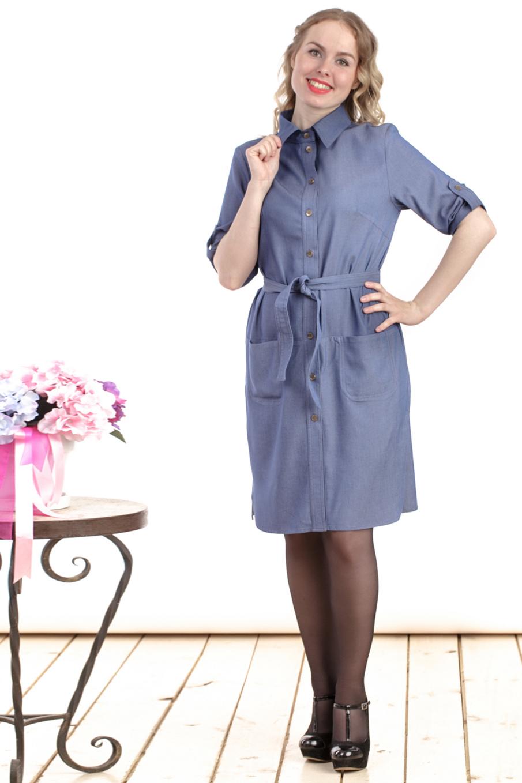 ПлатьеПлатья<br>Однотонное платье рубашка. Модель выполнена из тонкой плательной ткани джинс. Отличный выбор для любого случая.  Цвет: синий  Длина изделия: 44 размер - 92 см. 44 размер - 93 см. 44 размер - 94 см. 44 размер - 95 см. 44 размер - 96 см. 44 размер - 97 см.  Рост девушки-фотомодели 161 см.<br><br>Воротник: Рубашечный<br>По длине: До колена<br>По материалу: Вискоза,Тканевые<br>По рисунку: Однотонные<br>По силуэту: Полуприталенные<br>По стилю: Кэжуал,Офисный стиль,Повседневный стиль,Сафари<br>По форме: Платье - рубашка<br>По элементам: С карманами,С патами<br>Рукав: До локтя<br>По сезону: Осень,Весна<br>Размер : 44,46,48,50,52,54<br>Материал: Плательная ткань<br>Количество в наличии: 6