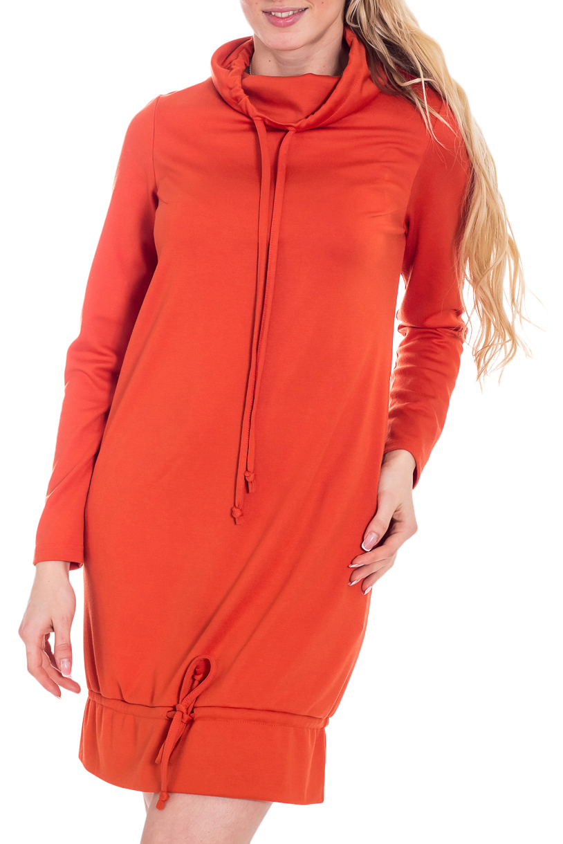 ПлатьеПлатья<br>Великолепное платье яркого оранжевого цвета. Модель выполнена из приятного трикотажа. Отличный выбор для повседневного гардероба.  В изделии использованы цвета: оранжевый  Рост девушки-фотомодели 170 см<br><br>Воротник: Стойка<br>По длине: До колена<br>По материалу: Трикотаж<br>По рисунку: Однотонные<br>По сезону: Зима,Осень,Весна<br>По силуэту: Полуприталенные<br>По стилю: Молодежный стиль,Повседневный стиль,Спортивный стиль<br>По форме: Платье - баллон<br>Рукав: Длинный рукав<br>Размер : 44,46,48,50,52<br>Материал: Трикотаж<br>Количество в наличии: 5