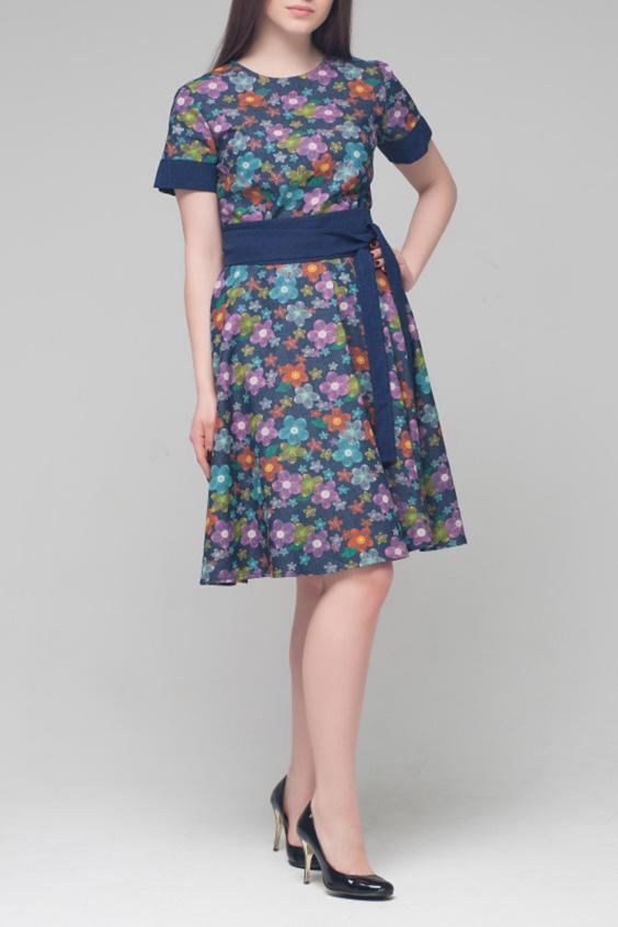 ПлатьеПлатья<br>Цветное платье с круглой горловиной и короткими  рукавами. Модель выполнена из плотной джинсовой ткани. Отличный выбор для повседневного гардероба. Платье без пояса.  Цвет: синий, голубой, сиреневый, оранжевый, зеленый  Ростовка изделия 170 см.<br><br>Горловина: С- горловина<br>По длине: До колена<br>По материалу: Джинс,Хлопок<br>По рисунку: Растительные мотивы,С принтом,Цветные,Цветочные<br>По силуэту: Полуприталенные<br>По стилю: Повседневный стиль<br>По форме: Платье - трапеция<br>Рукав: Короткий рукав<br>По сезону: Осень,Весна<br>Размер : 42,44,50<br>Материал: Джинс<br>Количество в наличии: 3
