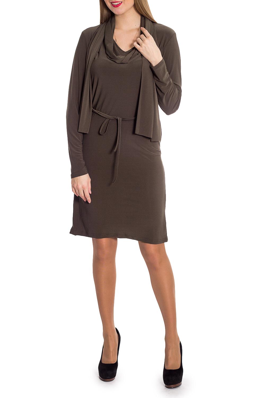 ПлатьеПлатья<br>Однотонное платье с длинными рукавами. Модель выполнена из приятного материала. Отличный выбор для любого случая.Ростовка изделия 164-170 см.Платье без шарфика и пояса.В изделии использованы цвета: коричневыйРост девушки-фотомодели 170 см<br><br>Горловина: С- горловина<br>Рукав: Длинный рукав<br>Длина: Ниже колена<br>Материал: Трикотаж<br>Рисунок: Однотонные<br>Сезон: Весна,Зима,Осень<br>Силуэт: Полуприталенные<br>Стиль: Классический стиль,Офисный стиль,Повседневный стиль<br>Размер : 46,48<br>Материал: Холодное масло<br>Количество в наличии: 2
