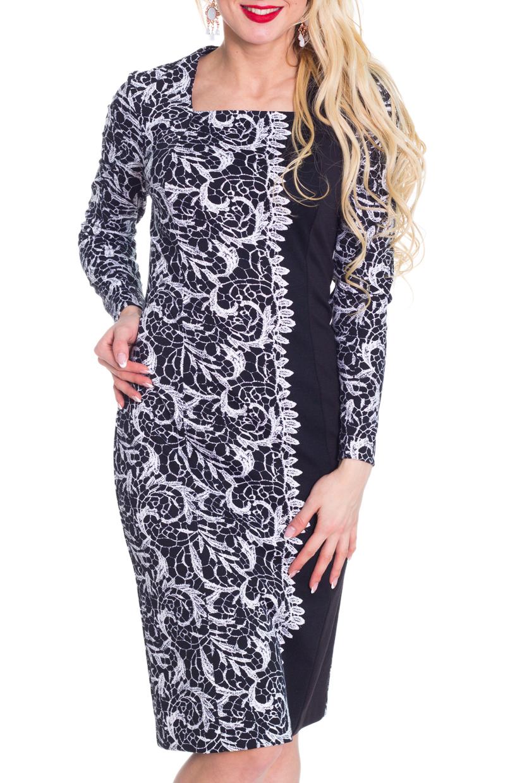 ПлатьеПлатья<br>Красивое платье с квадратной горловиной и длинными рукавами. Модель выполнена из приятного материала с ажурным принтом. Отличный выбор для любого случая.   Цвет: синий, белый  Рост девушки-фотомодели 170 см<br><br>Горловина: Квадратная горловина<br>По длине: До колена<br>По материалу: Вискоза,Трикотаж<br>По образу: Город,Свидание<br>По рисунку: Абстракция,Цветные<br>По сезону: Весна,Осень,Зима<br>По силуэту: Полуприталенные<br>По стилю: Повседневный стиль<br>По форме: Платье - футляр<br>Рукав: Длинный рукав<br>Размер : 44,46<br>Материал: Джерси<br>Количество в наличии: 2