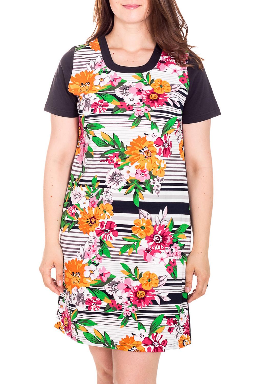 ПлатьеПлатья<br>Хлопковое платье с короткими рукавами. Домашняя одежда, прежде всего, должна быть удобной, практичной и красивой. В платье Вы будете чувствовать себя комфортно, особенно, по вечерам после трудового дня.  Цвет: коричневый, белый и др.  Рост девушки-фотомодели 180 см<br><br>Горловина: С- горловина<br>По рисунку: Цветные,Цветочные,В полоску,Растительные мотивы,С принтом<br>По сезону: Весна,Зима,Лето,Осень,Всесезон<br>По силуэту: Полуприталенные<br>Рукав: Короткий рукав<br>По длине: До колена<br>По материалу: Хлопок<br>По форме: Домашние платья<br>Размер : 48,52<br>Материал: Хлопок<br>Количество в наличии: 2