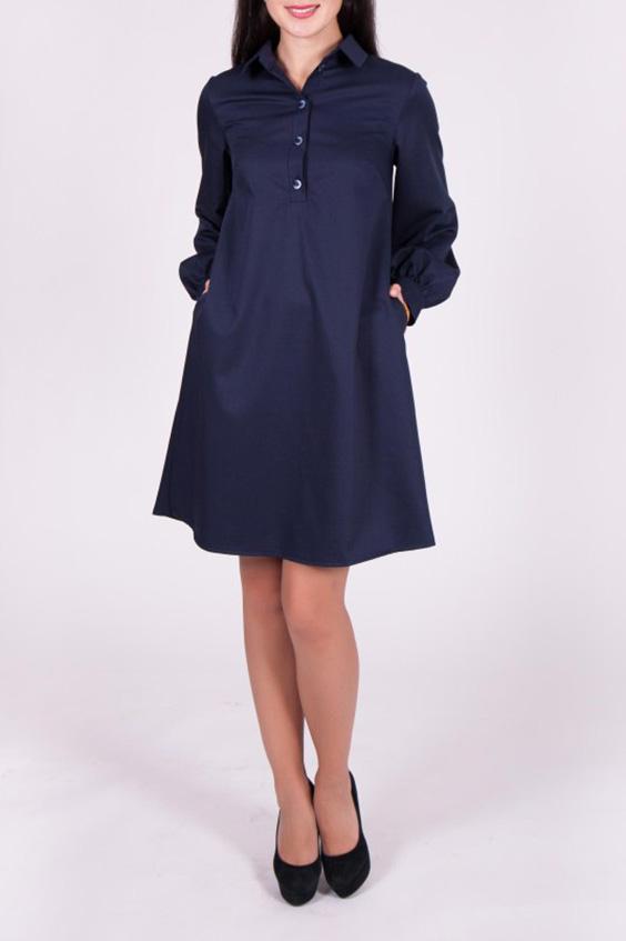 ПлатьеПлатья<br>Платье темно синего цвета свободного кроя, рукава на манжете с пугавицами. Модель выполнена из приятного материала. Отличный выбор для повседневного и делового гардероба.  Цвет: темно-синий  Ростовка изделия 170 см.<br><br>Воротник: Рубашечный<br>По длине: До колена<br>По материалу: Костюмные ткани,Тканевые<br>По рисунку: Однотонные<br>По силуэту: Свободные<br>По стилю: Офисный стиль,Повседневный стиль,Сафари<br>По форме: Платье - трапеция<br>По элементам: С манжетами,С пуговицами<br>Рукав: Длинный рукав<br>По сезону: Осень,Весна,Зима<br>Размер : 42<br>Материал: Костюмно-плательная ткань<br>Количество в наличии: 1