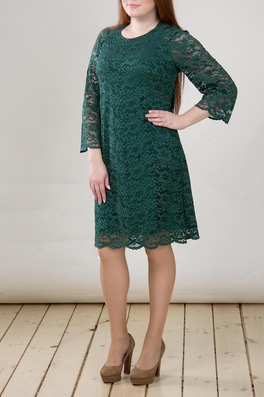 ПлатьеПлатья<br>Нарядное платье с круглой горловиной и рукавами 3/4. Модель выполнена из ажурного гипюра с подкладом из приятного трикотажа. Отличный выбор для любого торжества.  В изделии использованы цвета: зеленый  Длина изделия  46 размер - 96 см. 48 размер - 97 см. 50 размер - 98 см. 52 размер - 99 см. 54 размер - 100 см. 56 размер - 101 см. 58 размер - 102 см.  Рост девушки-фотомодели 164 см<br><br>Горловина: С- горловина<br>По длине: До колена<br>По материалу: Гипюр,Трикотаж<br>По рисунку: Однотонные<br>По сезону: Весна,Зима,Лето,Осень,Всесезон<br>По силуэту: Полуприталенные<br>По стилю: Нарядный стиль<br>По элементам: С подкладом<br>Рукав: Рукав три четверти<br>Размер : 46,48<br>Материал: Холодное масло + Гипюр<br>Количество в наличии: 2