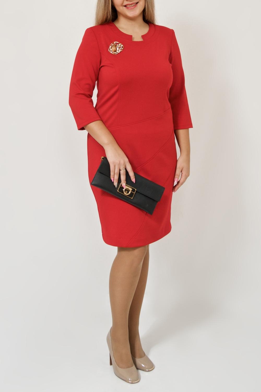 ПлатьеПлатья<br>В чем заключается секрет успешных женщин В платьях футлярного кроя, которые идеально формируют фигуру  Цвет: красный.  Ростовка изделия 170 см.<br><br>Горловина: Фигурная горловина<br>По длине: До колена<br>По материалу: Трикотаж<br>По рисунку: Однотонные<br>По силуэту: Приталенные<br>По стилю: Классический стиль,Нарядный стиль,Повседневный стиль<br>По форме: Платье - футляр<br>Рукав: Рукав три четверти<br>По сезону: Осень,Весна,Зима<br>Размер : 44-46,48-50<br>Материал: Трикотаж<br>Количество в наличии: 2