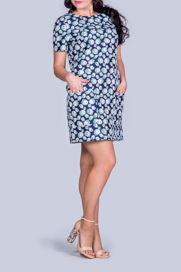 ПлатьеПлатья<br>Платье, прямого силуэта,  горловина обработана обтачкой, втачной укороченный рукав, застежка - на молнии, днина-мини. Модель выполнена из приятного материала. Отличный выбор для повседневного гардероба.  В изделии использованы цвета: синий, белый, мятный  Ростовка изделия 170 см.<br><br>Горловина: С- горловина<br>По длине: До колена,Мини<br>По материалу: Тканевые<br>По рисунку: Растительные мотивы,С принтом,Цветные,Цветочные<br>По силуэту: Полуприталенные<br>По стилю: Повседневный стиль<br>По форме: Платье - трапеция<br>По элементам: С карманами<br>Рукав: До локтя,Короткий рукав<br>По сезону: Осень,Весна<br>Размер : 44,46,48<br>Материал: Костюмно-плательная ткань<br>Количество в наличии: 3