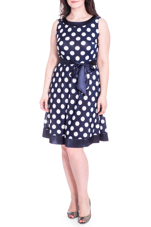 Платье платье голубое в белый горошек