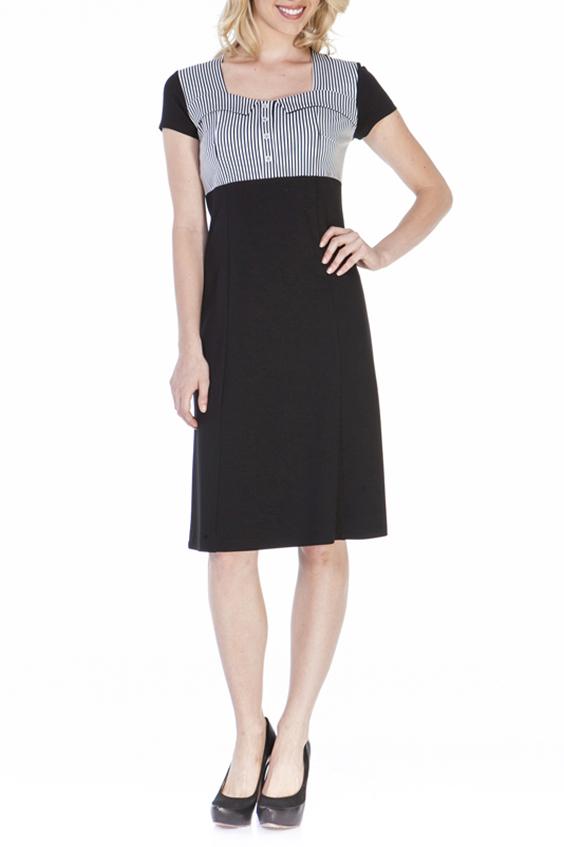 ПлатьеПлатья<br>Красивое платье с квадратной горловиной и короткими рукавами. Модель выполнена из приятного трикотажа. Отличный выбор для повседневного и делового гардероба.  Цвет: черный, белый  Ростовка изделия 170 см.<br><br>Горловина: Квадратная горловина<br>По длине: Ниже колена<br>По материалу: Вискоза,Трикотаж<br>По рисунку: В полоску,С принтом,Цветные<br>По силуэту: Приталенные<br>По стилю: Офисный стиль,Повседневный стиль<br>По форме: Платье - трапеция<br>Рукав: Короткий рукав<br>По сезону: Осень,Весна<br>По элементам: С декором<br>Размер : 44,48,50<br>Материал: Трикотаж<br>Количество в наличии: 3