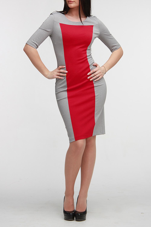 ПлатьеПлатья<br>Стильное платье-футляр из плотного трикотажного полотна двух контрастных расцветок. Горловина обработана обтачкой, на спинке молния длиной 50 см. Рукав до локтя, низ юбки со щлицей. Прекрасный вариант для любого случая.  Цвет: серый, красный  Рост девушки-фотомодели 172 см<br><br>Горловина: С- горловина<br>По длине: До колена<br>По материалу: Вискоза,Трикотаж<br>По образу: Город<br>По рисунку: Цветные<br>По силуэту: Приталенные<br>По стилю: Повседневный стиль<br>По форме: Платье - футляр<br>По элементам: С разрезом<br>Разрез: Шлица<br>Рукав: До локтя<br>По сезону: Осень,Весна<br>Размер : 42<br>Материал: Джерси<br>Количество в наличии: 1