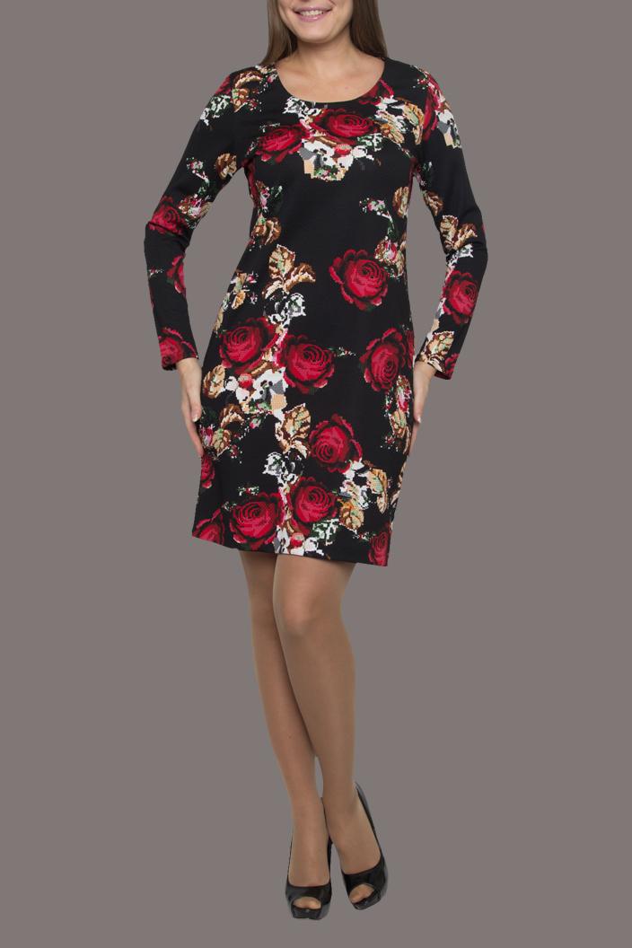 ПлатьеПлатья<br>Женское платье-туника прямого силуэта. Очень оригинальное сочетание цветовой гаммы и расположения изящного рисунка обеспечит безупречный вид владелице данного наряда, в сочетании с лосинами, узкими брюками, а любительницам мини, с красивыми колготками.  Цвет: черный, красный, бежевый, белый  Ростовка изделия 170 см.<br><br>Горловина: С- горловина<br>По длине: До колена<br>По материалу: Вискоза,Трикотаж<br>По образу: Город,Свидание<br>По рисунку: Растительные мотивы,С принтом,Цветные,Цветочные<br>По силуэту: Приталенные<br>Рукав: Длинный рукав<br>По сезону: Осень,Весна<br>По стилю: Повседневный стиль<br>По форме: Платье - футляр<br>Размер : 44,46,48,50,52<br>Материал: Трикотаж<br>Количество в наличии: 13
