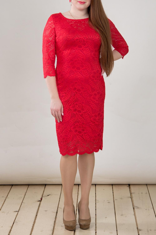 ПлатьеПлатья<br>Эффектное платье из роскошного гипюра. Отличный выбор для торжественного выхода.  Цвет: красный  Длина изделия: 44 размер - 94 см 46 размер - 95 см 48 размер - 96 см 50 размер - 97 см 52 размер - 98 см 54 размер - 99 см  Рост девушки-фотомодели 164 см<br><br>Горловина: С- горловина<br>По длине: Ниже колена<br>По материалу: Гипюр<br>По рисунку: Однотонные<br>По сезону: Весна,Зима,Лето,Осень,Всесезон<br>По силуэту: Приталенные<br>По стилю: Нарядный стиль,Вечерний стиль<br>По форме: Платье - футляр<br>По элементам: С подкладом<br>Рукав: Рукав три четверти<br>Размер : 46,48<br>Материал: Гипюр<br>Количество в наличии: 2