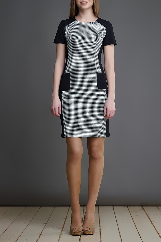 ПлатьеПлатья<br>Чудесное платье с круглой горловиной и короткими рукавами. Модель выполнена из приятного материала. Отличный выбор для любого случая.  В изделии использованы цвета: белый, черный  Длина изделия по спинке: 40 размер - 86 см. 42 размер - 87 см. 44 размер - 88 см. 46 размер - 89 см. 48 размер - 90 см.  Рост девушки-фотомодели 175 см.<br><br>Горловина: С- горловина<br>По длине: До колена<br>По материалу: Тканевые<br>По рисунку: С принтом,Цветные<br>По силуэту: Приталенные<br>По стилю: Повседневный стиль<br>По форме: Платье - футляр<br>По элементам: С карманами<br>Рукав: Короткий рукав<br>По сезону: Осень,Весна<br>Размер : 40,44,46,48<br>Материал: Плательная ткань<br>Количество в наличии: 4