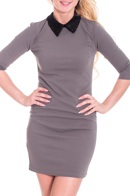 ПлатьеПлатья<br>Классическое платье в городском стиле. Модель выполнена из приятного материала. Отличный выбор для любого случая.  Просим учесть, что изделие маломерит на один размер.  Цвет: бежево-серый  Рост девушки-фотомодели 170 см.<br><br>Воротник: Отложной<br>По длине: До колена<br>По образу: Город,Офис,Свидание<br>По рисунку: Однотонные<br>По сезону: Весна,Осень,Зима<br>По стилю: Офисный стиль,Повседневный стиль,Винтаж<br>По форме: Платье - футляр<br>По элементам: С воротником,С декором<br>Рукав: Рукав три четверти<br>По материалу: Трикотаж<br>По силуэту: Приталенные<br>Размер : 42,48<br>Материал: Джерси<br>Количество в наличии: 2