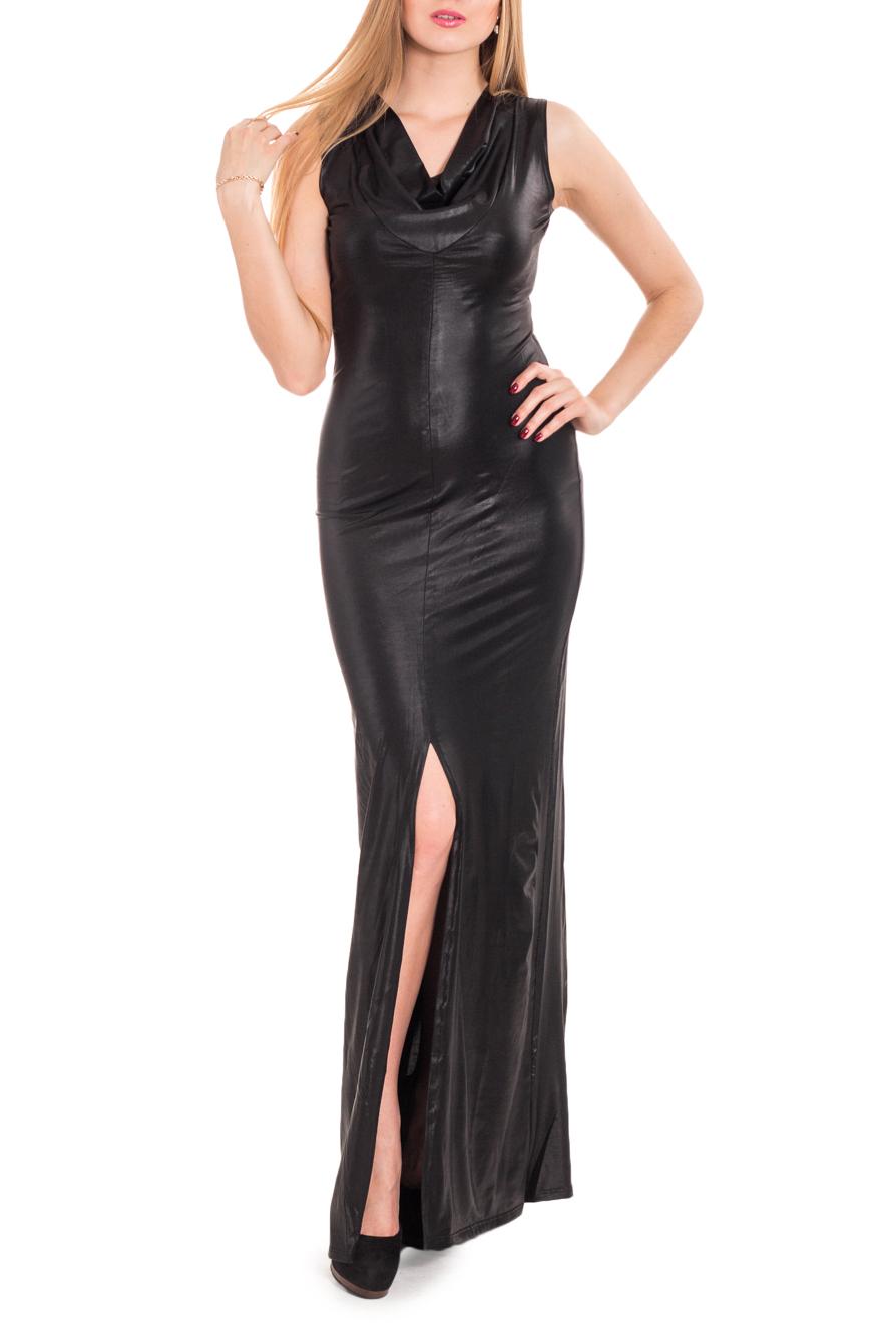 ПлатьеПлатья<br>Элегантное платье в пол из черного тонкого трикотажа подойдет для любого торжества. Разрез юбки, открывающий колено, мягкий вырез, воланами ниспадающий на груди, создают образ одновременно строгий и романтичный.  Цвет: черный  Рост девушки-фотомодели 170 см.<br><br>Горловина: Качель<br>По длине: Макси<br>По материалу: Трикотаж<br>По рисунку: Однотонные<br>По сезону: Весна,Зима,Лето,Осень,Всесезон<br>По силуэту: Приталенные<br>По стилю: Нарядный стиль<br>По форме: Платье - футляр<br>По элементам: С разрезом<br>Разрез: Длинный<br>Рукав: Без рукавов<br>Размер : 42,44,46<br>Материал: Трикотаж<br>Количество в наличии: 3
