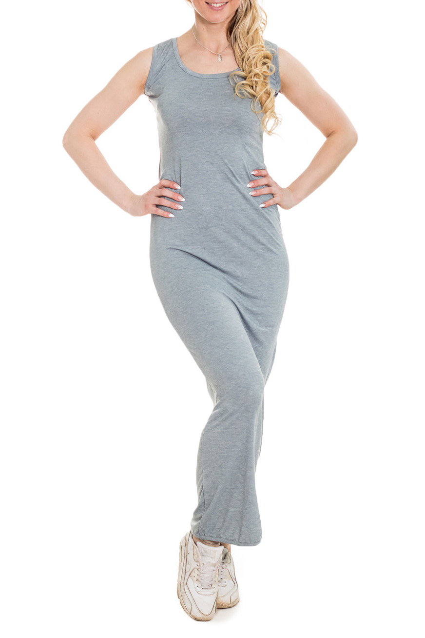 ПлатьеПлатья<br>Обтягивающее платье в пол из приятного материала. Отличный выбор для летнего гардероба.  Цвет: серый  Рост девушки-фотомодели 170 см.<br><br>Горловина: С- горловина<br>По длине: Макси<br>По материалу: Вискоза,Трикотаж<br>По рисунку: Однотонные<br>По силуэту: Обтягивающие<br>По стилю: Повседневный стиль,Кэжуал,Летний стиль,Молодежный стиль<br>Рукав: Без рукавов<br>По сезону: Лето<br>Размер : 42-44<br>Материал: Вискоза<br>Количество в наличии: 1