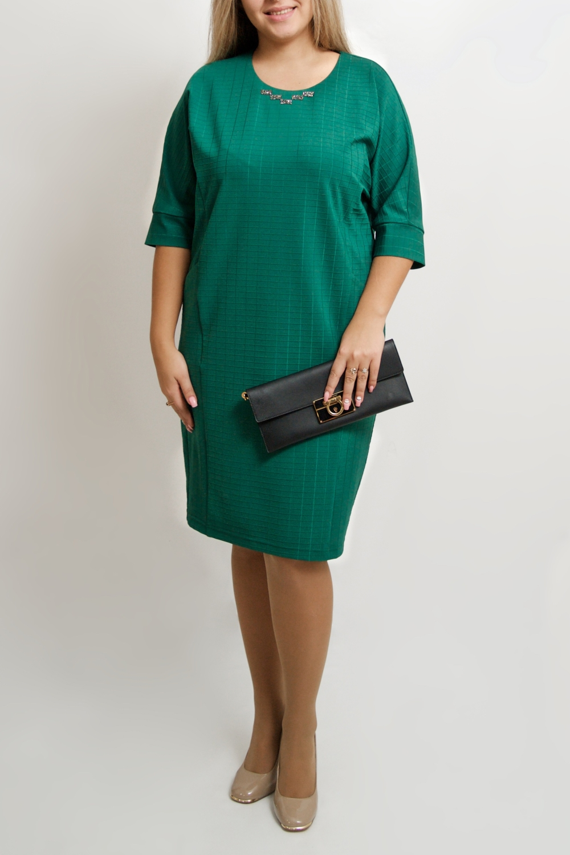ПлатьеПлатья<br>В чем заключается секрет успешных женщин В платьях футлярного кроя, которые идеально формируют фигуру  Цвет: зеленый.  Ростовка изделия 170 см.<br><br>Горловина: С- горловина<br>По длине: Ниже колена<br>По материалу: Трикотаж<br>По рисунку: Однотонные<br>По силуэту: Прямые,Свободные<br>По стилю: Повседневный стиль<br>По элементам: С декором,С манжетами,С отделочной фурнитурой<br>Рукав: Рукав три четверти<br>По сезону: Осень,Весна,Зима<br>Размер : 46-48,50-52<br>Материал: Трикотаж<br>Количество в наличии: 2