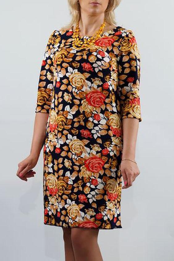 ПлатьеПлатья<br>Это нарядное платье  для женщин, которые хотят выглядеть сногсшибательно в глазах окружающих, и при этом ценят комфорт и удобство в одежде. Главный акцент - это красивая трикотажная  ткань с изысканным узором. Удобный рукав три-четверти. Простой трапецевидный силуэт подчеркивает все достоинства фигуры, и скрывает имеющиеся недостатки. Это платье будет уместно смотреться на женщине не только в офисе, но и на любом торжественном мероприятии.  Длина до 48 размера - 89 см., после 50 размера - 94 см.   В изделии использованы цвета: черный, бежевый, коралловый  Ростовка изделия 170 см.<br><br>Горловина: С- горловина<br>По длине: До колена<br>По материалу: Вискоза,Трикотаж<br>По рисунку: Растительные мотивы,С принтом,Цветные,Цветочные<br>По силуэту: Полуприталенные<br>По стилю: Повседневный стиль<br>По форме: Платье - трапеция<br>Рукав: Рукав три четверти<br>По сезону: Осень,Весна,Зима<br>Размер : 46,48<br>Материал: Трикотаж<br>Количество в наличии: 2