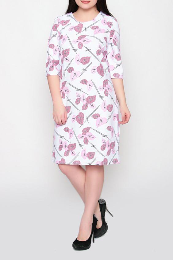 ПлатьеПлатья<br>Цветное платье полуприталенного силуэта с круглой горловиной и рукавами 3/4. Модель выполнена из приятного материала. Отличный выбор для повседневного гардероба.  Цвет: белый, розовый  Ростовка изделия 170 см.<br><br>Горловина: С- горловина<br>По длине: До колена<br>По материалу: Тканевые<br>По рисунку: Растительные мотивы,С принтом,Цветные,Цветочные<br>По силуэту: Полуприталенные<br>По стилю: Повседневный стиль<br>По форме: Платье - футляр<br>Рукав: До локтя<br>По сезону: Осень,Весна<br>Размер : 54<br>Материал: Плательная ткань<br>Количество в наличии: 1