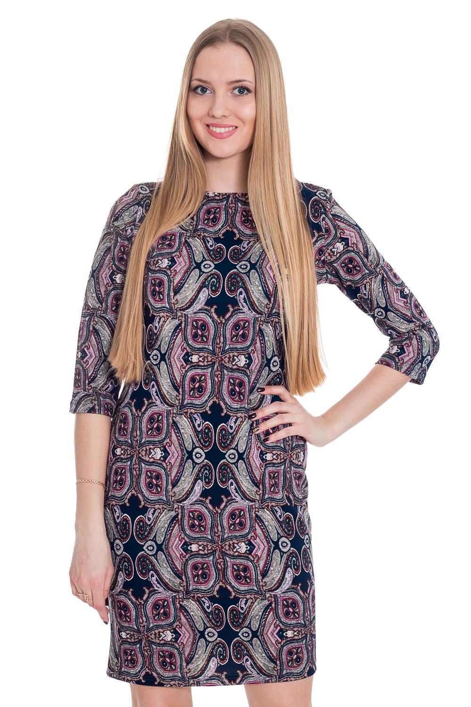 ПлатьеПлатья<br>Цветное платье с круглой горловиной и рукавами 3/4. Модель выполнена из приятной телу ткани. Отличный выбор для повседневного гардероба.  Цвет: синий, розовый, серый  Рост девушки-фотомодели 170 см.<br><br>Горловина: С- горловина<br>По длине: До колена<br>По материалу: Вискоза,Трикотаж<br>По образу: Город,Свидание<br>По рисунку: С принтом,Цветные<br>По силуэту: Полуприталенные<br>По стилю: Повседневный стиль<br>По форме: Платье - футляр<br>Рукав: Рукав три четверти<br>По сезону: Осень,Весна<br>Размер : 44,46,48,50,52,54,56<br>Материал: Трикотаж<br>Количество в наличии: 3