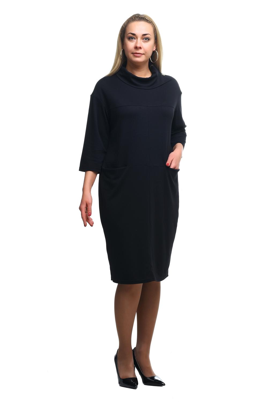 Платье платье с ремешком длина по колено однотонное