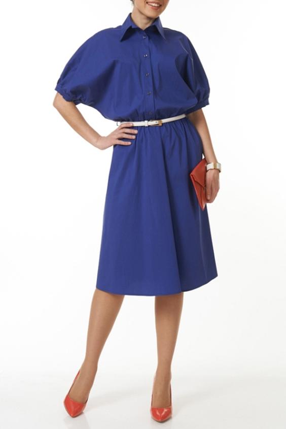 ПлатьеПлатья<br>Однотонное платье-рубашка с рукавами 3/4. Модель выполнена из приятного материала. Отличный выбор для повседневного и делового гардероба. Платье без пояса.  В изделии использованы цвета: синий  Ростовка изделия 170 см.<br><br>Воротник: Рубашечный<br>По длине: Ниже колена<br>По материалу: Тканевые,Хлопок<br>По рисунку: Однотонные<br>По силуэту: Полуприталенные<br>По стилю: Офисный стиль,Повседневный стиль<br>По форме: Платье - рубашка,Платье - трапеция<br>По элементам: С манжетами,Со складками<br>Рукав: До локтя<br>По сезону: Осень,Весна<br>Размер : 46,48,50,52<br>Материал: Плательная ткань<br>Количество в наличии: 7