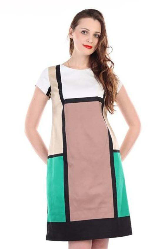 ПлатьеПлатья<br>Цветное платье с круглой горловиной и короткими рукавами. Модель выполнена из приятного материала. Отличный выбор для повседневного гардероба.  В изделии использованы цвета: белый, черный, коричнеый, зеленый  Ростовка изделия 170 см.<br><br>Горловина: С- горловина<br>По длине: До колена<br>По материалу: Тканевые<br>По рисунку: Цветные<br>По сезону: Лето,Осень,Весна<br>По силуэту: Полуприталенные<br>По стилю: Повседневный стиль<br>По форме: Платье - трапеция<br>Рукав: Короткий рукав<br>Размер : 48,52,54<br>Материал: Плательная ткань<br>Количество в наличии: 3