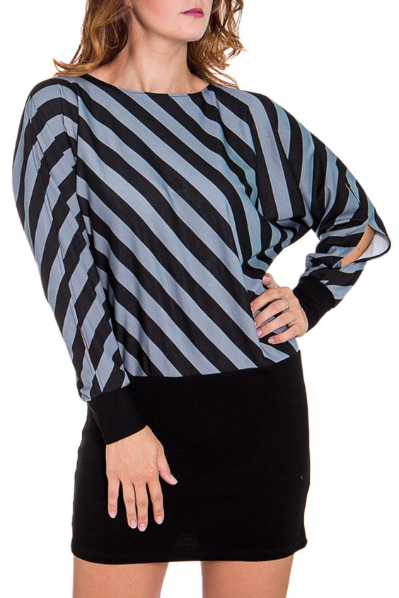 ПлатьеПлатья<br>Эффектное женское платье имитирующее юбку и блузку. Модель выполнена из приятного трикотажа. Отличный выбор для повседневного гардероба.  Цвет: черный, серый  Рост девушки-фотомодели 180 см<br><br>Горловина: С- горловина<br>По длине: До колена<br>По материалу: Трикотаж<br>По образу: Город,Свидание<br>По рисунку: В полоску,Цветные<br>По сезону: Весна,Осень<br>По силуэту: Полуприталенные<br>По стилю: Повседневный стиль<br>Рукав: Длинный рукав<br>Размер : 46<br>Материал: Трикотаж<br>Количество в наличии: 1