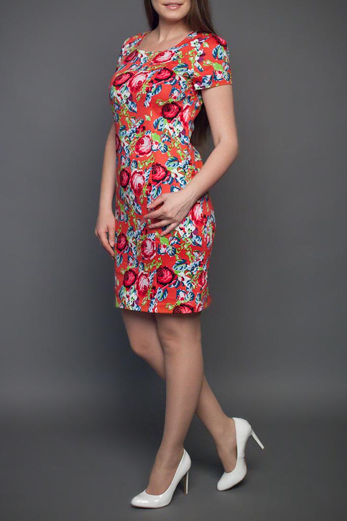ПлатьеПлатья<br>Женское платье прямого силуэта, зауженное к низу, выполненное в хлопковой ткани. Застежка расположена по левому боковому шву на потайную тесьму молнию. Великолепный праздничный и повседневный вариант, благодаря яркой расцветке, прекрасному дизайну и отличной посадке.   Размеры 52,54,56 увеличены по длине на 4 см;  Цвет: оранжевый, мультицвет  Ростовка изделия 170 см.<br><br>Горловина: С- горловина<br>По длине: До колена<br>По материалу: Тканевые<br>По рисунку: Растительные мотивы,С принтом,Цветные,Цветочные<br>По сезону: Лето,Осень,Весна<br>По силуэту: Полуприталенные<br>По стилю: Повседневный стиль,Летний стиль<br>По форме: Платье - футляр<br>Рукав: Короткий рукав<br>Размер : 48<br>Материал: Костюмно-плательная ткань<br>Количество в наличии: 1