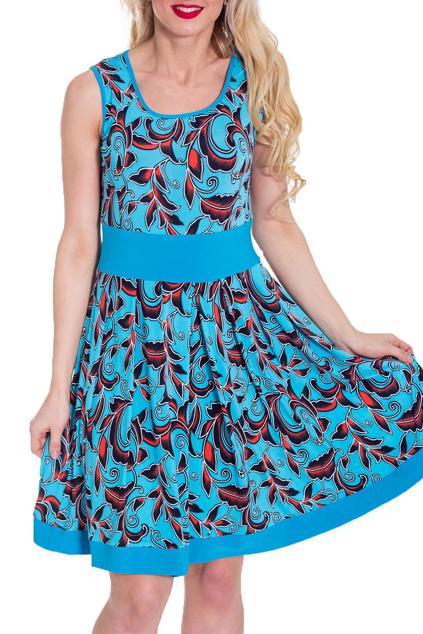 СарафанСарафаны<br>Чудесный женский сарафан. Модель станет идеальным дополнением к Вашему повседневному гардеробу.  Цвет: голубой, красный, черный.  Рост девушки-фотомодели 170 см<br><br>Бретели: Широкие бретели<br>Горловина: С- горловина<br>По длине: До колена<br>По материалу: Вискоза,Трикотаж<br>По рисунку: С принтом,Цветные<br>По силуэту: Полуприталенные<br>По стилю: Летний стиль,Повседневный стиль<br>По элементам: Со складками<br>Рукав: Без рукавов<br>По сезону: Лето<br>Размер : 44,46,50,54<br>Материал: Холодное масло<br>Количество в наличии: 5